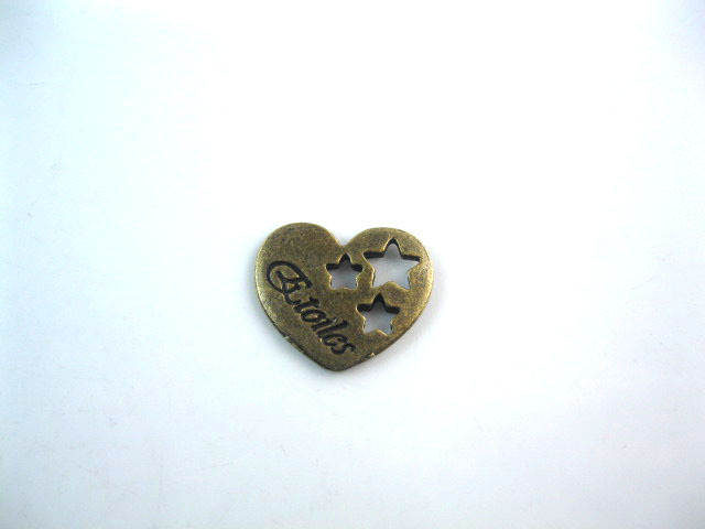 Antique Bronze Plated Free Shipment Heart Shape Pendant Alloy Charms Fit Necklace DIY a565(China (Mainland))