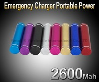 2600Mah Portable Power Emergency Charger USB PORT For iphone,ipod,samsung Galaxy S II, Smart phones