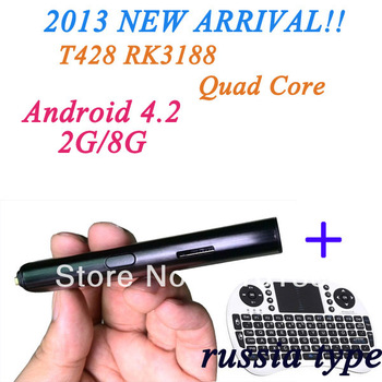 Factory Supply!T428 Android4.2 Hdmi Smart Tv Dongle,Android Hdmi Dongle,Smart Tv Dongle With Russia Keyboard i8