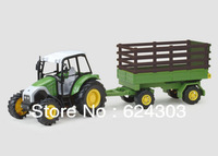 Free Shipping! 2013  newest ! 1:43 Farm tractor series animal transport truck luxury gift box set alloy car model