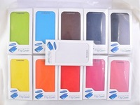 DHL Battery Housing Leather Case For Samsung Galaxy SIV S4 I9500 Free Shipping Back Cover Flip, with Retail Box,100 pcs/lot