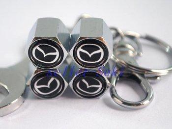 Free ShippingWrench key chain Wheel Tire Valve Caps For MAZDA 2 3 5 6 8 RX-8 CX-5 CX-7 CX-9 Tribute MAZDA3 MAZDA6 Free shipping