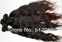 "Brazilian virgin hair weave, Natural Wave, natural color , Grade 5A, 100% unprocessed, 12""-30"", 4pcs/lot, DHL free shipping"