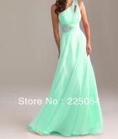 ELegant One Shoulder Chiffon Evening Prom Party Long Formal dress