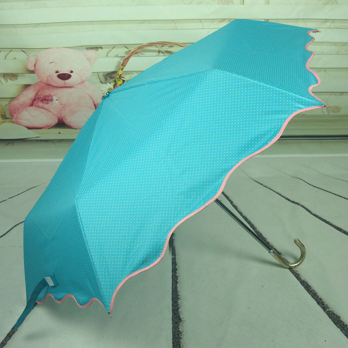 2013 umbrellas Three folding umbrella Anti-UV sun protection elargol coating umbrella Rain parasol bow sunshade women(China (Mainland))