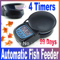 Auto Digital Aquarium Automatic tank Fish Feeder 4 feeding times setup Free Shipping Dropshipping