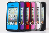 12 Colors Excellent Design Life Case for iPhon Waterproof Case for iPhone 4S 4 20pcs/lot