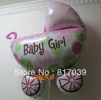 Free shipping Birthday aluminum foil balloon aluminum 79cm birthday balloon girl baby stroller
