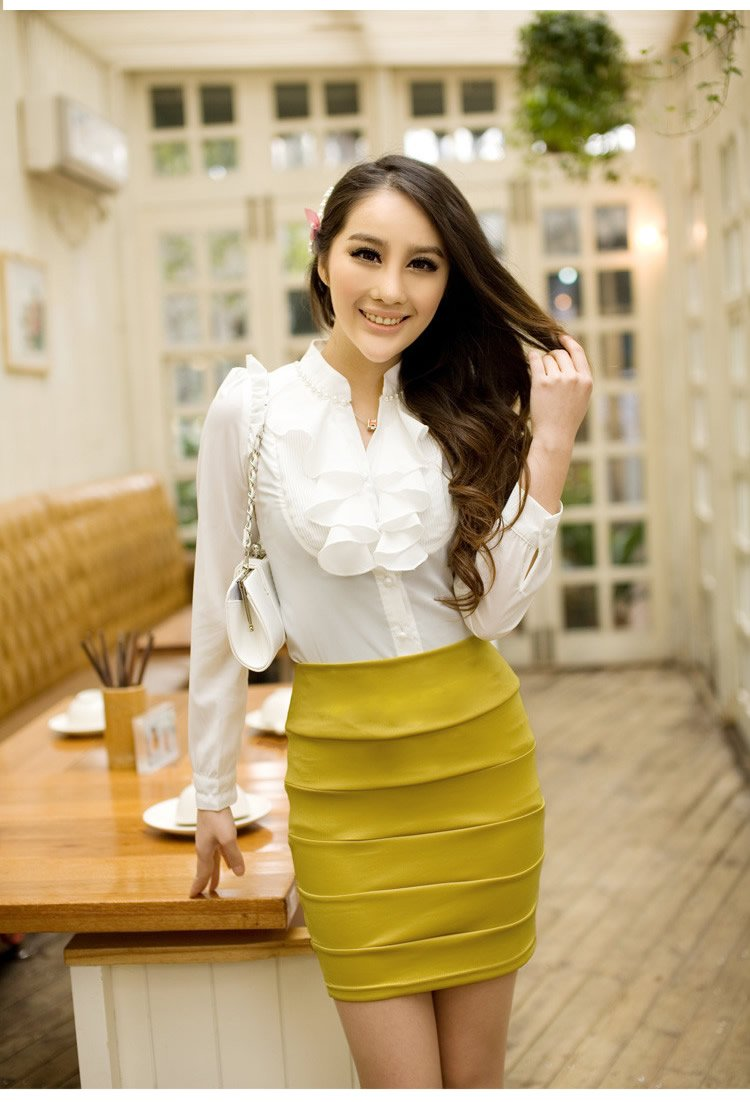 women Long Sleeve Chiffon Blouse ladies casual dress shirt summer new style wholesales(China (Mainland))