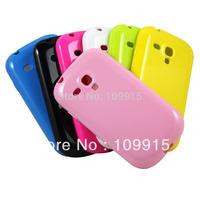 New TPU Soft Gel Skin Back Case Cover For Samsung mini i8190 Galaxy S3 III JS0336 Free Shipping
