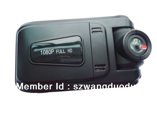"Free shipping!!!1080p full hd car black box with gps Dual LED light HD 2.0"" 130 million pixels sensor car dvr camera black box(China (Mainland))"