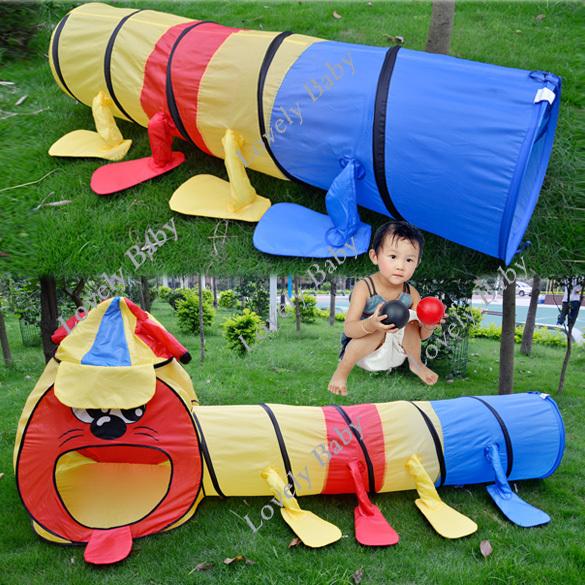 Mais recente portátil colorida do jogo Big Kids Brinquedos Tenda para meninos e meninas Jogo Tunnel quarto projeto Playhouse 11924(China (Mainland))