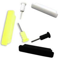 Christmas Gift (Minimum $ 5) Black data port plugs charging port dust plug FOR ipad2 ipad3 Iphone 4/4S