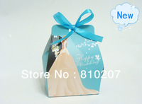 2013 New Arrival Free shipping Beautiful Blue Could put Cigarette Wedding Favor Box  Big Box Cartoon Box DIY Candy box