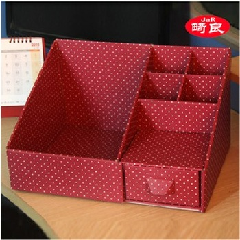 Free Shipping Korea stationery dot paper storage box drawer cabinet DIY desktop organizer 620g