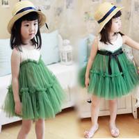 Child 2013 princess  tulle  puff  tank  one-piece costume dress