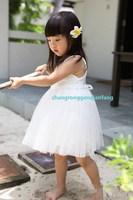 White rose white princess one-piece dress female child white children lace one-piece dress children summer 2013