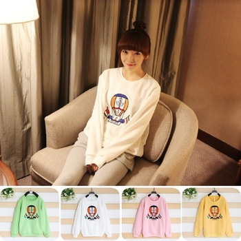 Women's casual ball 100% women's cotton sweatshirt hot air balloon 720