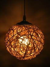 Free shipping Handmade lamps knitted lamp small pendant light lamps lighting lamp(China (Mainland))