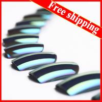 24pcs Mirror Surface Metalic Shinning False Nail Full False Fake Nail Tips with free glue  Free Shipping