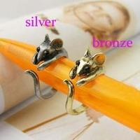 Christmas Gift (Minimum $ 5) Korea fashion cute bronze mouse ring hot fashion