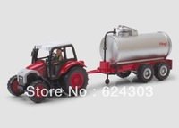 Nida ETAM alloy tractors water tank milk cans car toy red
