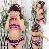 Free shipping New arrival 2012 child swimwear flower butterfly powder girls beachwear split swimwear baby swimwear