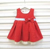 2013 spring female child vest  dot tank one-piece dress children
