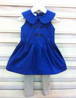 Female child vest  2012 autumn one-piece  dress