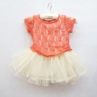 2013 summer female child short-sleeve lace puff  princess dress