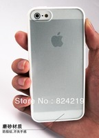 New Silica gel Transparent frosted Skin for iphone 5 cover protector case wholesale 50 pcs/lot Free shipping