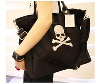 Hot selling genuine leather soft bag  shoulder bagMmj shoulder bag  embroidery skull bag