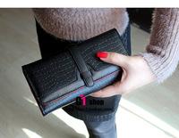Free Shipping PU leather Women's Purse Ladies Long Wallet fashion women's wallets