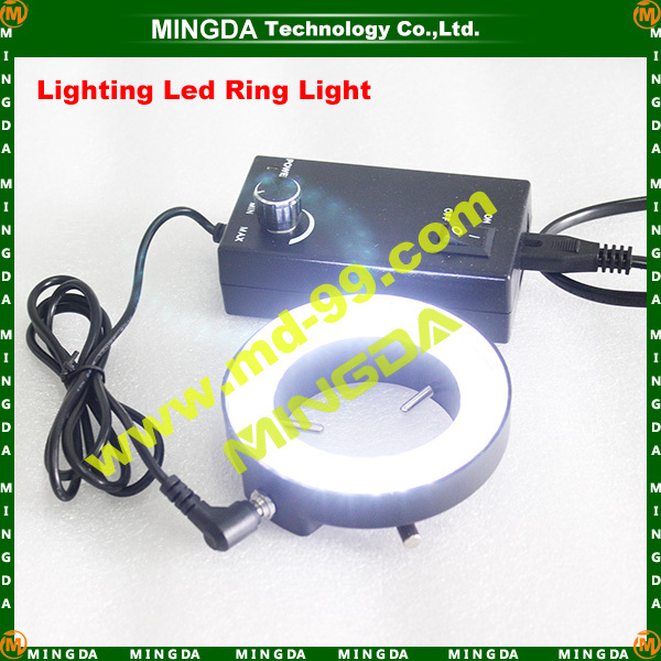 Hot sale! Free Shipping 60 LEDs High Lumens Microscope LED Ring Light for digital microscope or camera(China (Mainland))