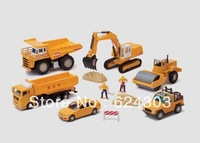 Mining machine road roller dump engineering car set car model toys 0681 - 03