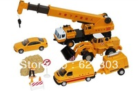 Bulldozer crane alloy car set alloy toy model 0661 - 04