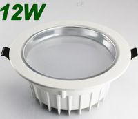 New Aluminum 12W Led Ceiling Lamp Bathroom Led Downlights Cree Led chip AC 85V-265V +Led Driver