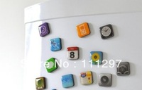 Free  Shipping 300packs/lot APP Refrigerator magnets As Seen On TV Mobile phone fridge magnets 18pcs/pack