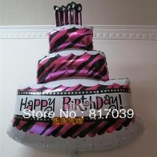 Free shippping Cake aluminum foil balloon birthday anagram