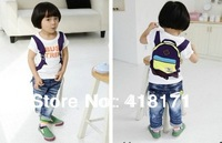 2013New children t shirt boys cute backpack print t shirt kids cotton short sleeve summer top 5pcs/lot free shipping