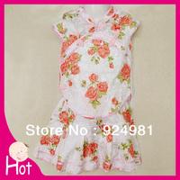 summer children clothing skirt /kid tang suit /chinese formal dress costume female/ child cheongsam/children wear Free shipping