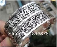 New Tibetan Tibet Silver Totem Bangle Cuff Bracelet YT
