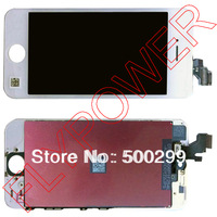 For iPhone 5 5G LCD with Touch Screen Digitizer Assembly without Home Button or Camera by free shipping; white; 100% original