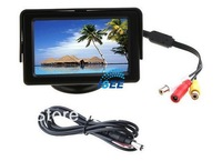 "4.3"" LED Backlight Color TFT LCD car Monitor Rearview Camera DVD VCR Free Shipping"