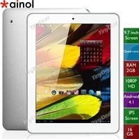 """Original Ainol NOVO9 Firewire Spark Quad core tablet pc 9.7"""" IPS Retina Screen 2048x1536 pixels Allwinner A31 2GB RAM 16GB"""