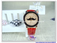 [Free Shipping] Popular Wristwatch Mustache Watch! Gold Bezel, Vintage Watch Wholesale Price Moustache Watch