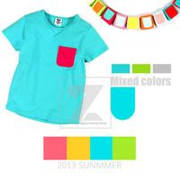 Summer Candy Children Baby Toddler Kids Boy Girl Unisex T-Shirts Short Sleeve 1pcs/lot Free Shipping