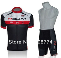 2013 High Quality  Nalini Fast Shipping Cycling Jersey(Maillot)+Bib Short(Culot)/Made From High Quality Polyester