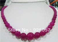 "6-14mm Rose Alexandrite   Round Beads Necklace 18"" Fashion jewelry"