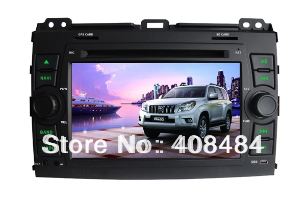 7&quot; 2DIN Car DVD player with GPS for TOYOTA Prado,Land Cruiser 100/120series/Prado/Amazon,LX470,GX470 retail/pcs+free shipping!(China (Mainland))